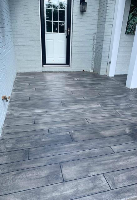 Las Vegas, NV - This grey wood turned out amazing at the front door! I love the quality and I'm very confident that it is going to stay so good-looking for a long time to come! This is exactly what I want my front porch to look like so I can sit out there and relax in a chair on warm days! I love the work that Las Vegas Concrete Decor does! Great workers, a lot of options. Worth checking out!