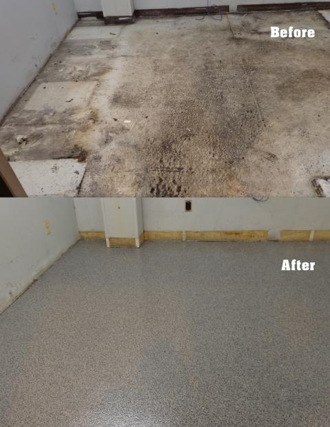 Las Vegas, NV - The work that the Las Vegas Concrete Decor team completed for us turned out great! Our garage floor was old, grungy, and cracking all over the place. The crew came out, repaired the cracks, grinded the ugliness away, and resurfaced with a beautiful flake coat! It looks like a completely different floor than before! I will definitely be using this company again for our patio remodel! I recommend their excellent services to all who require a decorative concrete contractor for a remodeling job!