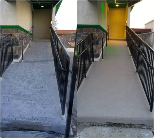 We had called 4 different companies who would be able to resurface our ramp/walkway outside our building. At the end of the day, we ended up choosing Las Vegas Concrete Decor and couldn't have been more pleased with the decision! They truly went above and beyond on this job! I'd recommend this team to anyone needing a new concrete floor for their home or business!