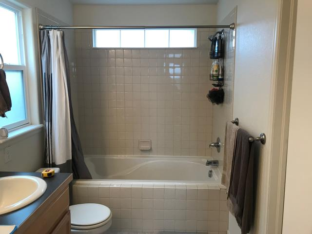 Fort Collins, CO - Before photo of a tub/shower combo. Will be a new Kohler Shower System!