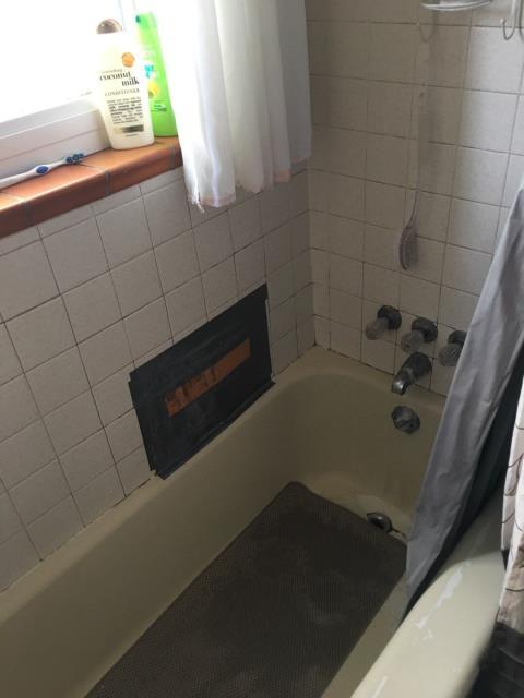 Denver, CO - Before photo of tub/shower combo. Will be a brand new Kohler Walk-In Bath.