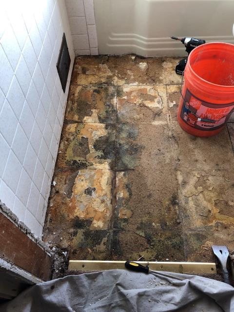 Denver, CO - Process of removing old tub/shower combo for new Kohler Walk-In Bath!