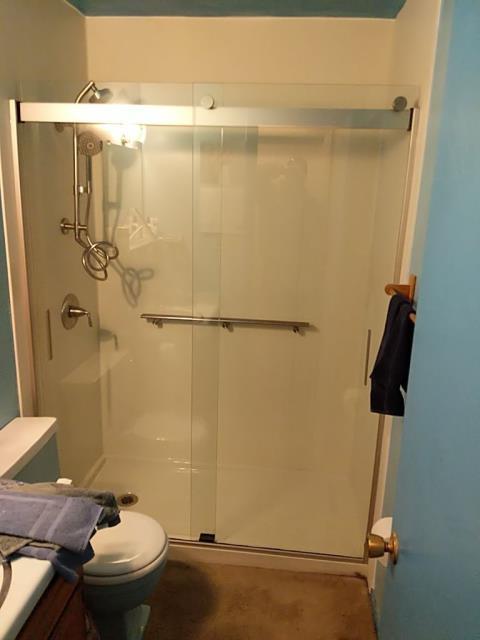 Colorado Springs, CO - Installed in a new Kohler LuxStone walk-in shower.