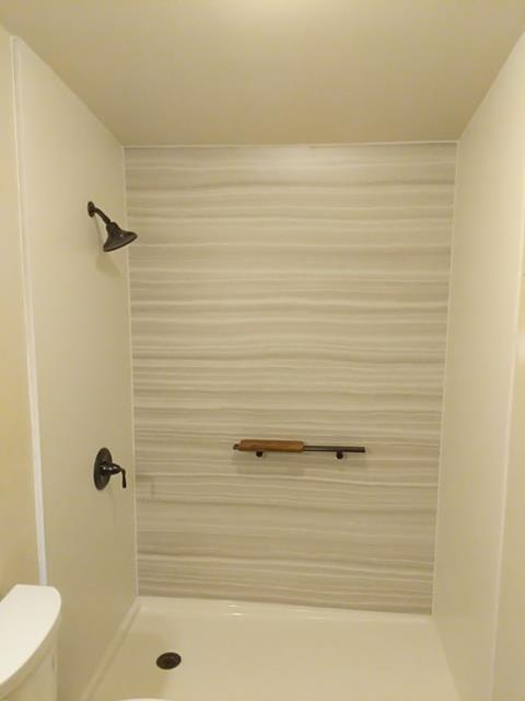 Sedalia, CO - Made a safer bathroom for a homeowner by removing a bathtub and installed a new Kohler walk-in shower.