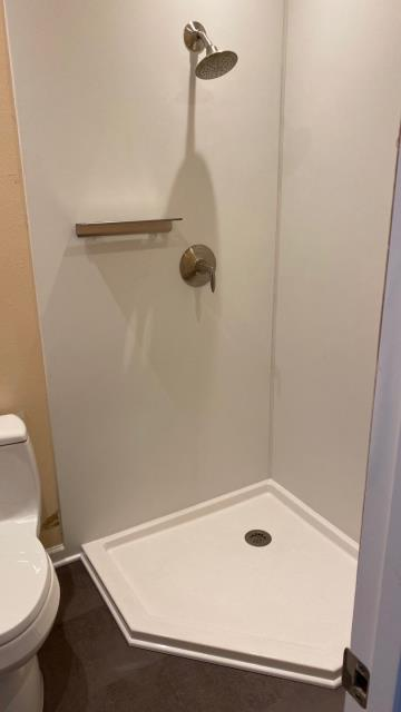 Colorado Springs, CO - Installed a new Kohler LuxStone walk-in shower.
