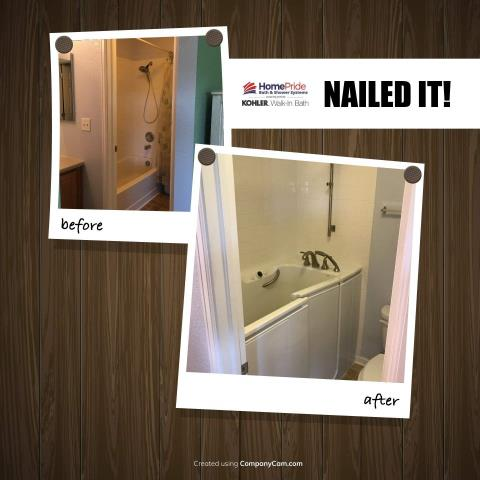 Denver, CO - One of our customers needed a safe option for bathing-a Kohler walk in tub fit the bill! Our satisfied client loves the quick drain technology, heated seat, and whirlpool jets.