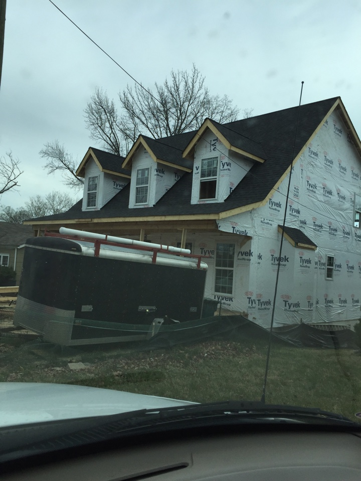 Kirkwood, MO - Explaining to a home owner how the duct work will layout for a new construction home.