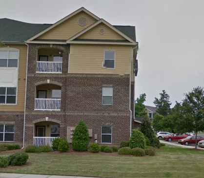 Raleigh, NC - 2nd floor to 3rd floor 2 buildings over in the same complex.