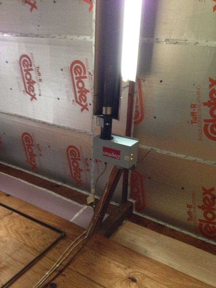 Hennepin, IL - Installing control on tube heater for shop.