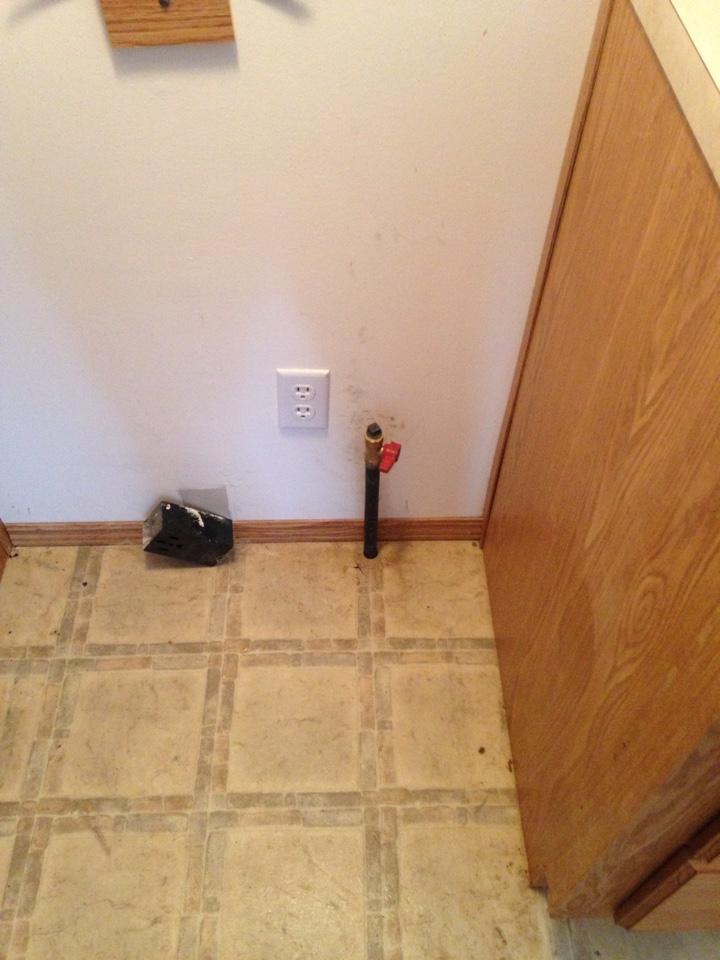 Install gas line and valve