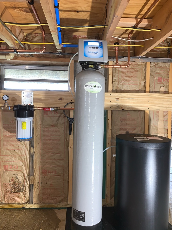 Install new WATER RIGHT SANITIZER and inline filter.