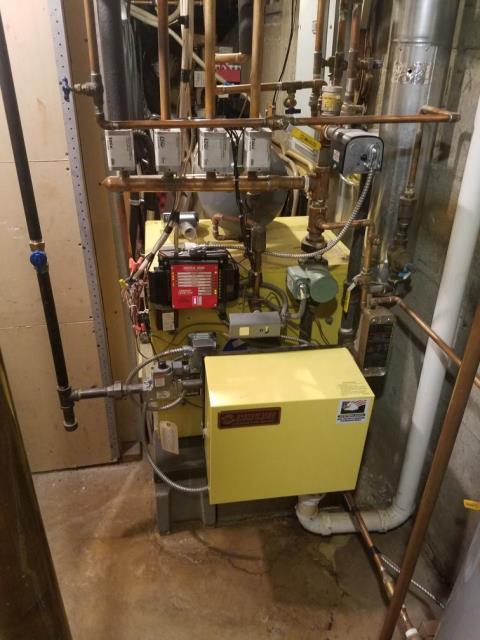 Dix Hills, NY - Heat Preventative Maintenance on Energy Kinetics Gas Boiler.