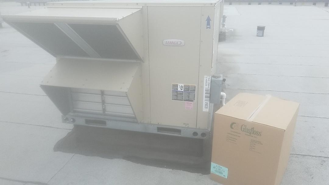 Farmingdale, NY - Performing weekly air filter change at access direct in farmingdale ny 11735
