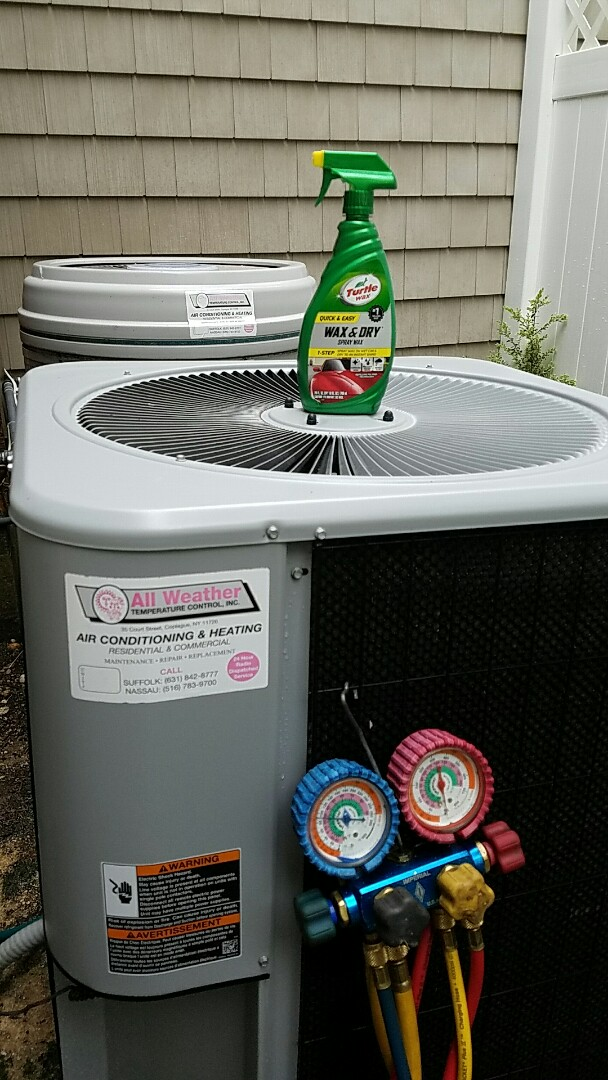 Melville, NY - Preparing for summer @ Melville.  Maintaining your air conditioning system will give you cool problem-free, comfortable summer.