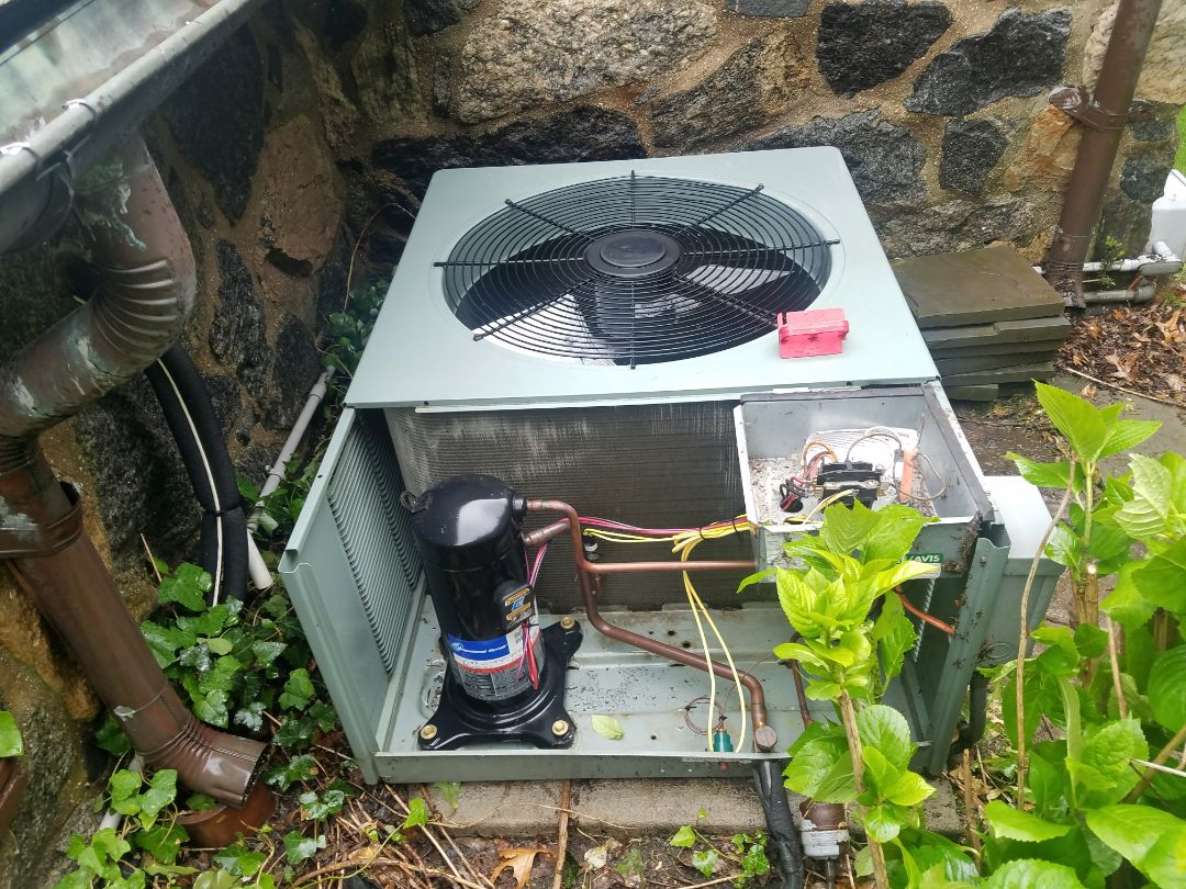 Preventive maintenance on rheem/unico air conditioning split system