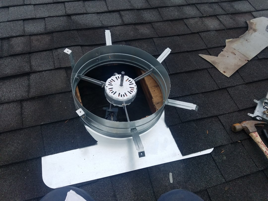 Merrick, NY - installed attic fan in Merrick, NY
