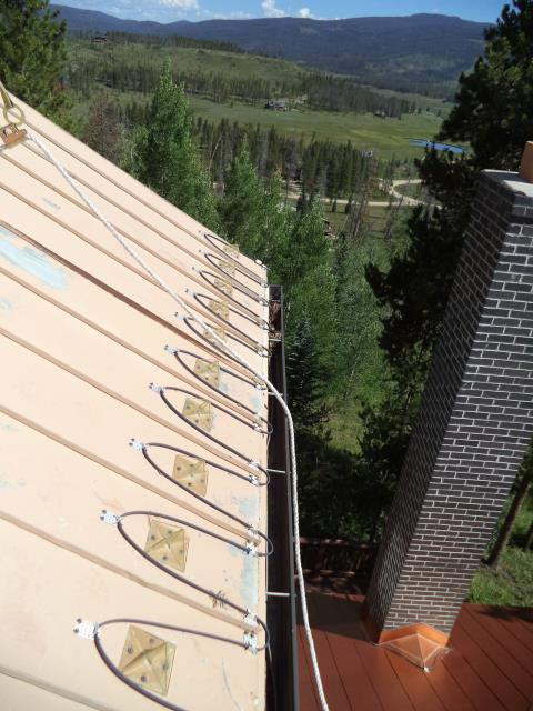 Heat Cable Replacement on Upper, Northeast Section