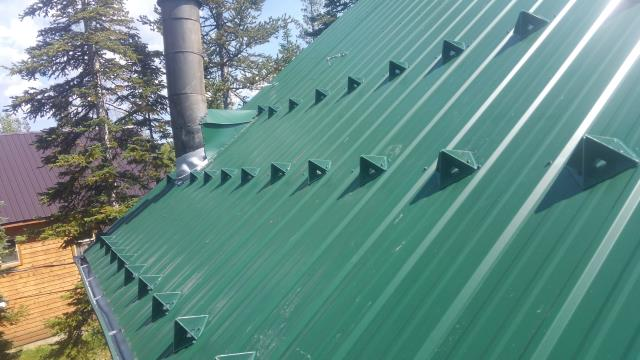 Install Seamless Gutters, Install of Raychem Self Regulating Heat Cable, Install 3 Row Stagger of Snogems