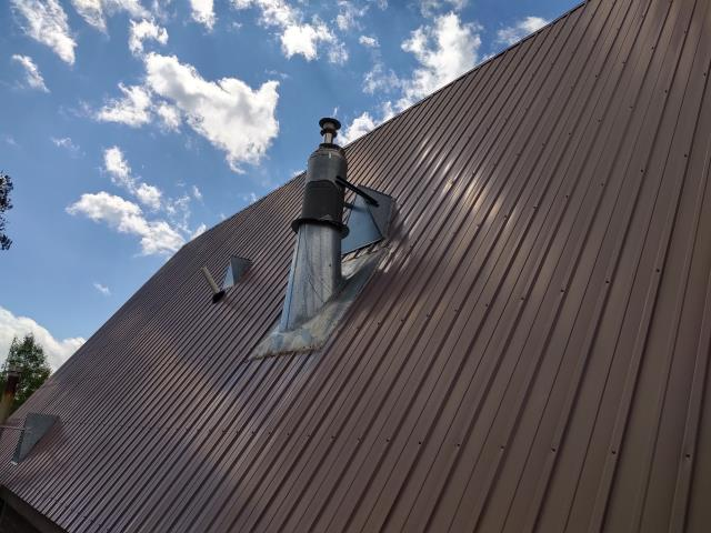 Re-fasten/Re-Secure Metal Ridge Cap. Tighten all fasteners throughout the roof system.
