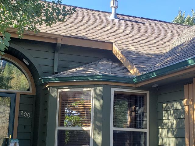 Install  30 ft of Rollformed 5k Factory Painted Gutter and 20ft Color Matching Downspout.