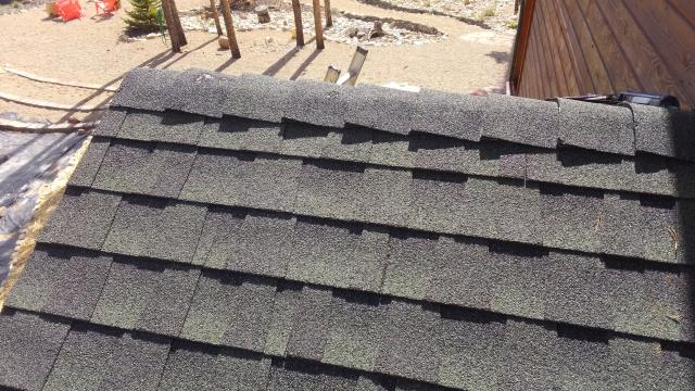 Replaced ridge cap shingles.