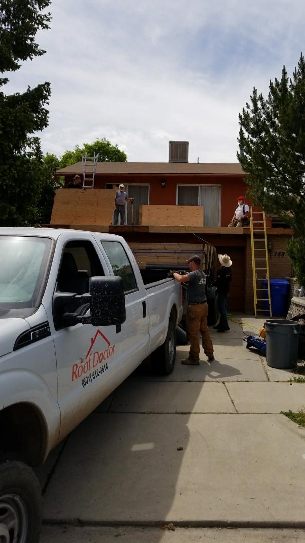 Midvale, UT - New DecTech flat roof over garage roof.