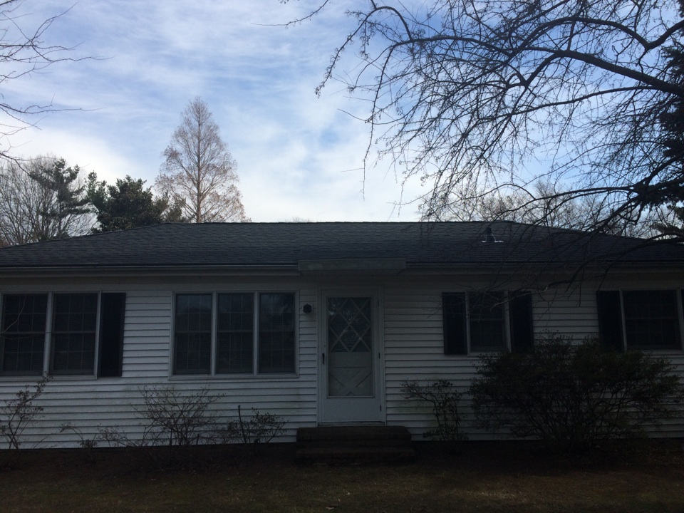 Stevensville, MD - Single layer shingle tear off. Installed new GAF Timberline Charcoal shingles on roof. Home is located in Stevensville, Md.
