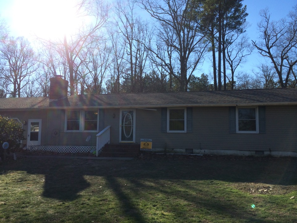 Cambridge, MD - Spicer Bros. Construction roofing job. Single layer shingle removal. Installed new GAF Timberline American Harvest Golden Harvest shingles. Home is located in Cambridge Md.