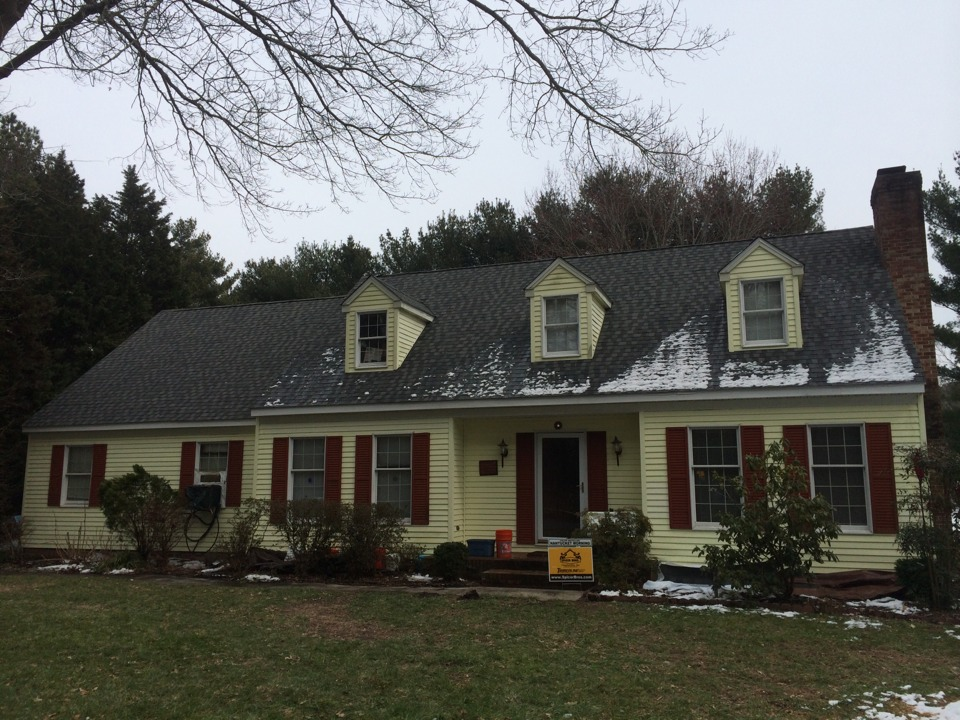 Delmar, MD - Spicer Bros. Construction roofing job. Single layer shingle removal. Installed new GAF Timberline American Harvest Nantucket Morning shingles. Home is located in Delmar, Md.