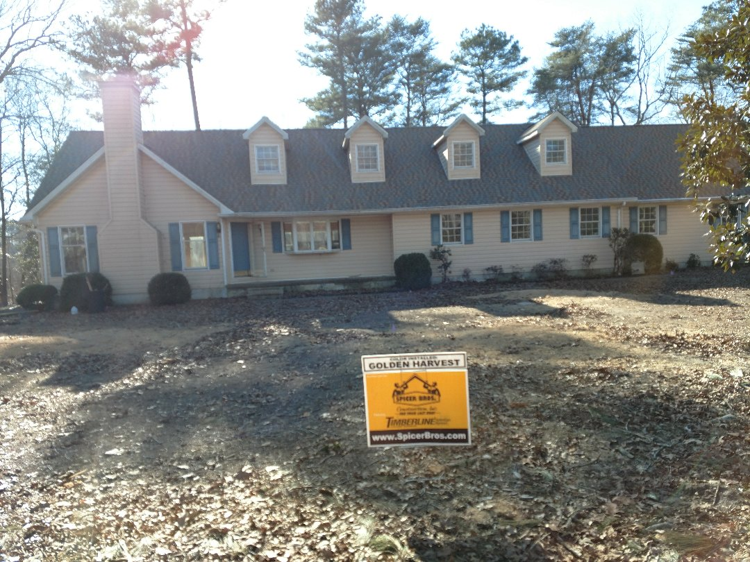 Georgetown, DE - Spicer Bros Construction removed one layer of shingles in Georgetown, DE and installed new GAF Timberline HD American Harvest series Golden Harvest in color