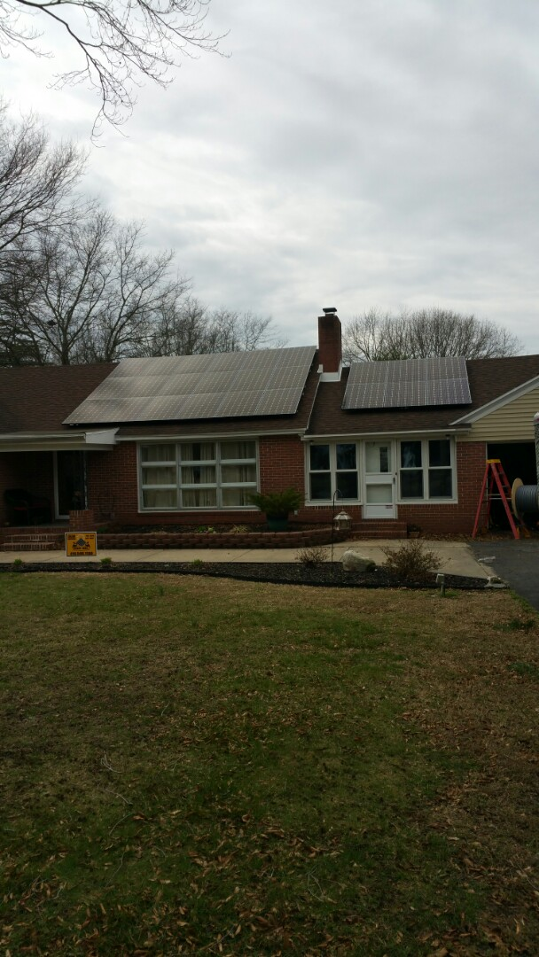 Delmar, MD - Spicer Bros Construction installing another set of Solar panels in Delmar, Maryland