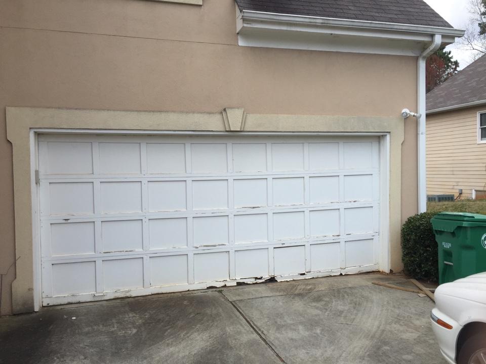 Garage door estimate.