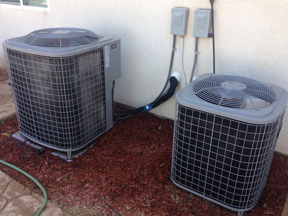 Wildomar, CA - Performed prepaid air-conditioning maintenance for a gold club member on 2 Comfortmaker  split systems.