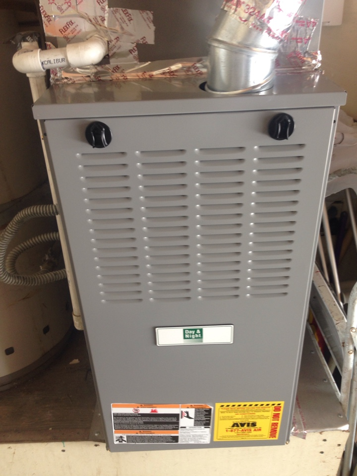 Diamond Bar, CA - Avis performed heating maintenance on a 2014 day & night furnace. System is in good condition.