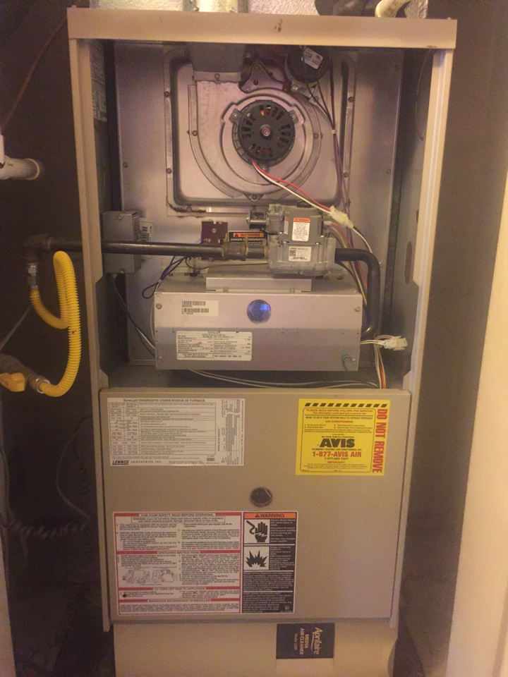 West Covina, CA - Performed prepaid heating maintenance for a gold club member on a 2004 Lennox furnace.