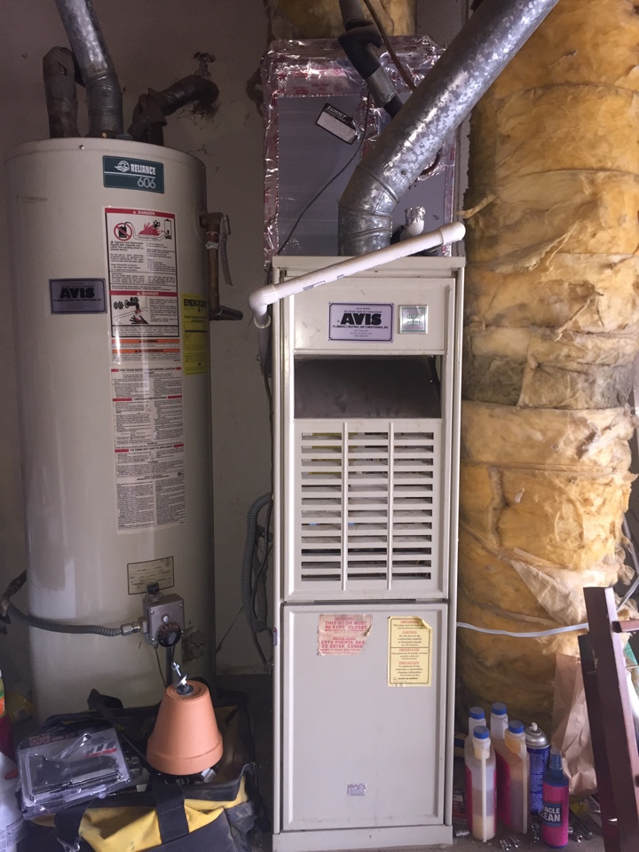Victorville, CA - Performed a $79 heating tuneup on a 1987 day and night furnace.
