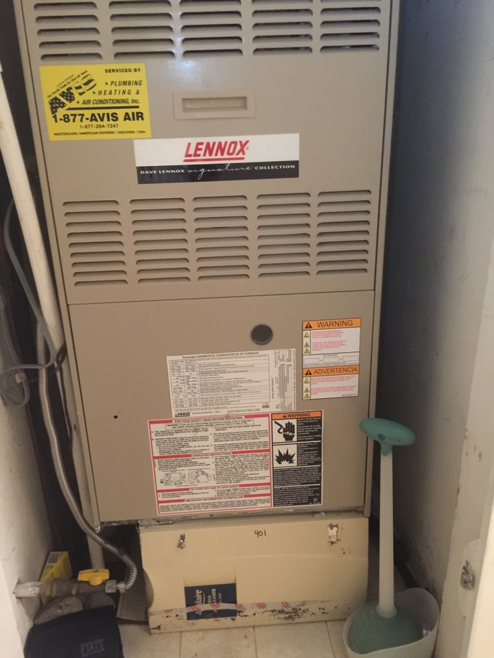Mentone, CA - Performed prepaid heating maintenance for a gold club member on a 2003 Lennox furnace.