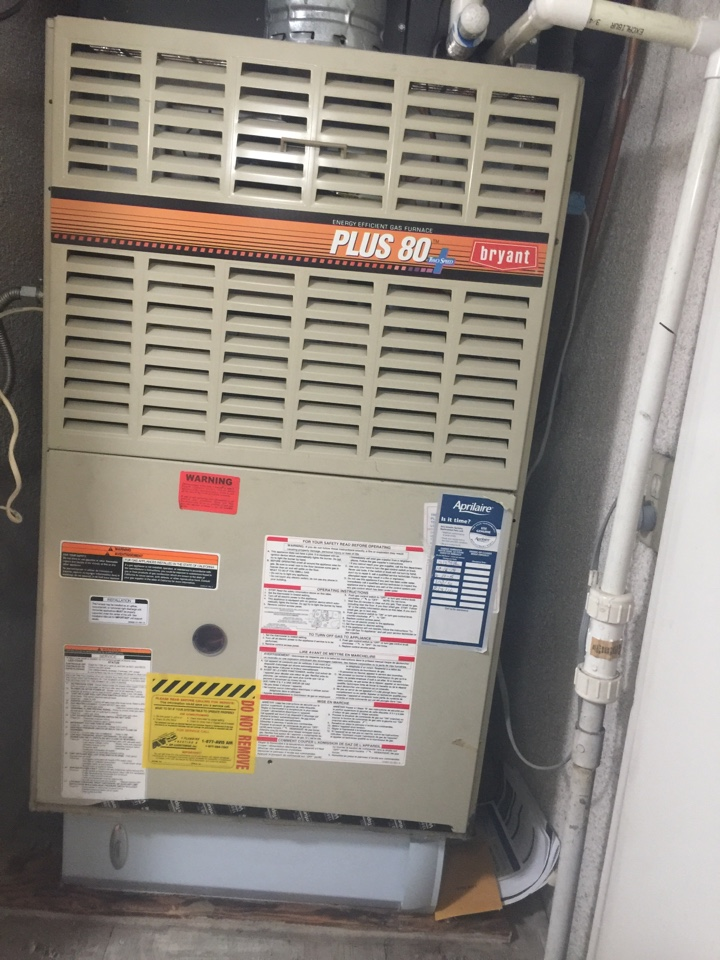 West Covina, CA - Performed prepaid heating maintenance for a gold club member on a 1999 Bryant furnace. Client set up an appointment to get a free estimate to replace furnace due to age and condition.