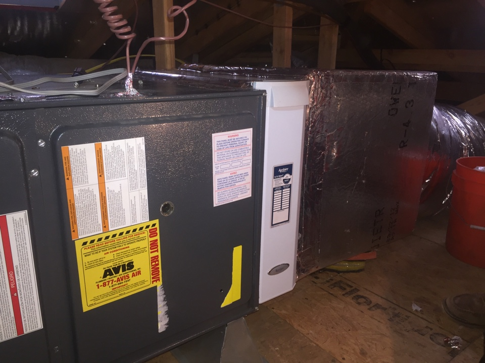 Lake Elsinore, CA - Installed April Aire 2210, Air scrubber, and VT 3000 talking thermostat.