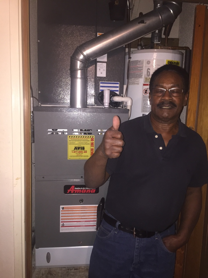 Victorville, CA - Performed prepaid air-conditioning maintenance for a gold club member on a 2016 Amana split system.