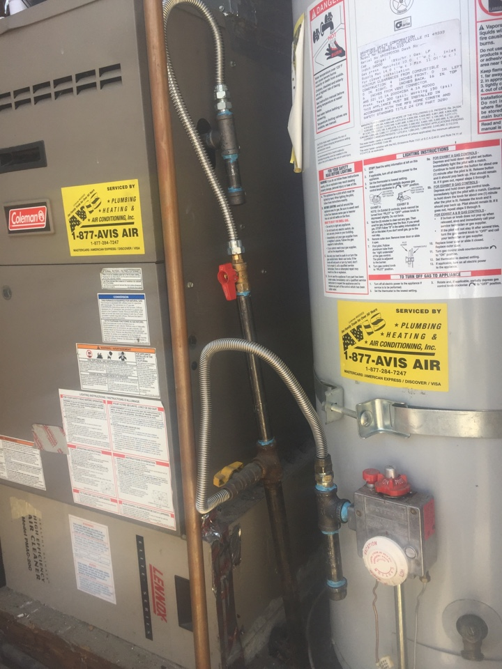 La Verne, CA - Installed a sediment trap on the furnace and water heater as required by inspector for a gold club member