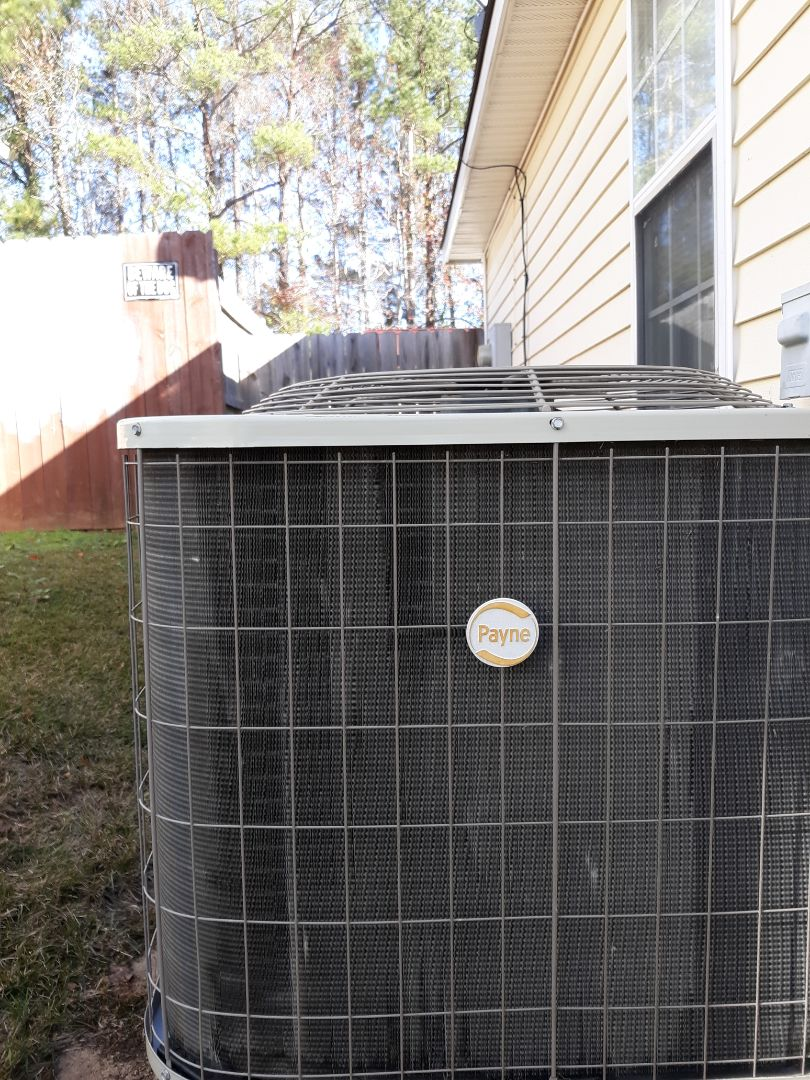 Phenix City, AL - Heating tune up on the Glab family's Payne heat pump in Phenix City, AL. Thank you for being a loyal Express Heating & Air Conditioning customer!!