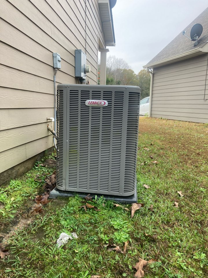 Phenix City, AL - Flushed out stopped up drain line on Hvac system and checked all other unit operations in Phenix City, Al.