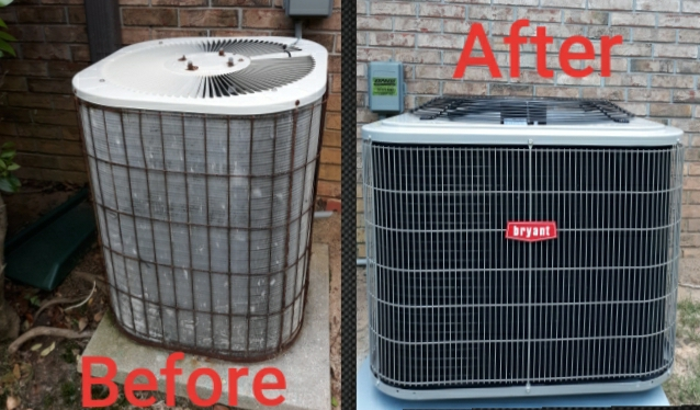 New install, retiring a 35 year old hvac system in Columbus, GA. Call Express Heating and Air Conditioning for your next AC update, 706-576-6800.
