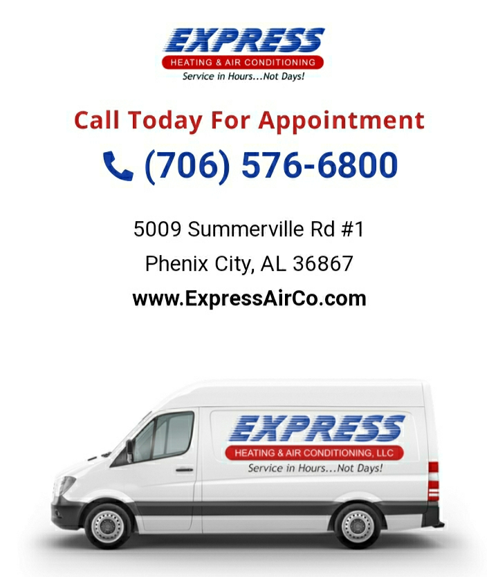 Finance appointment in Smiths Station, AL. Call Express Heating and Air Conditioning for your next AC upgrade, with rates as low as 0% find a payment that fits your family, that's 706-576-6800 or visit us online at expressairco.com.
