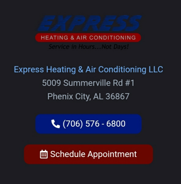 Duct repair for the Holtzclaw family in Columbus, GA. Call Express Heating and Air Conditioning for all your home comfort needs 706-576-6800.