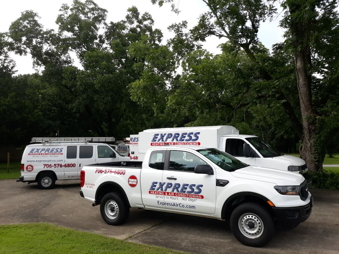 The team at Express Heating and Air Conditioning shows up in full force to take care of your home comfort needs!