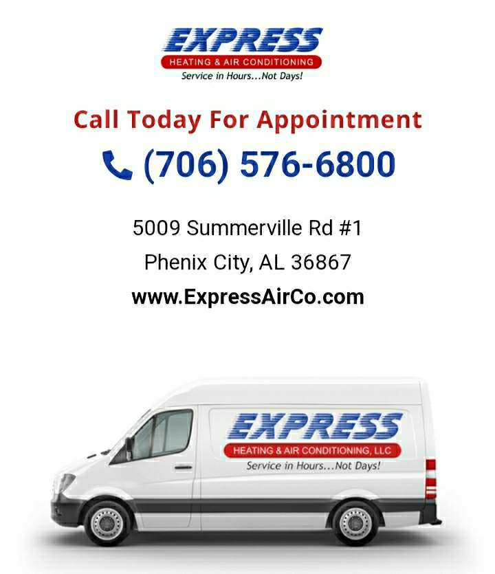 Estimate to upgrade a customer's heat pump system in Columbus, GA. Call Express Heating and Air Conditioning for all your home comfort needs 706-576-6800.