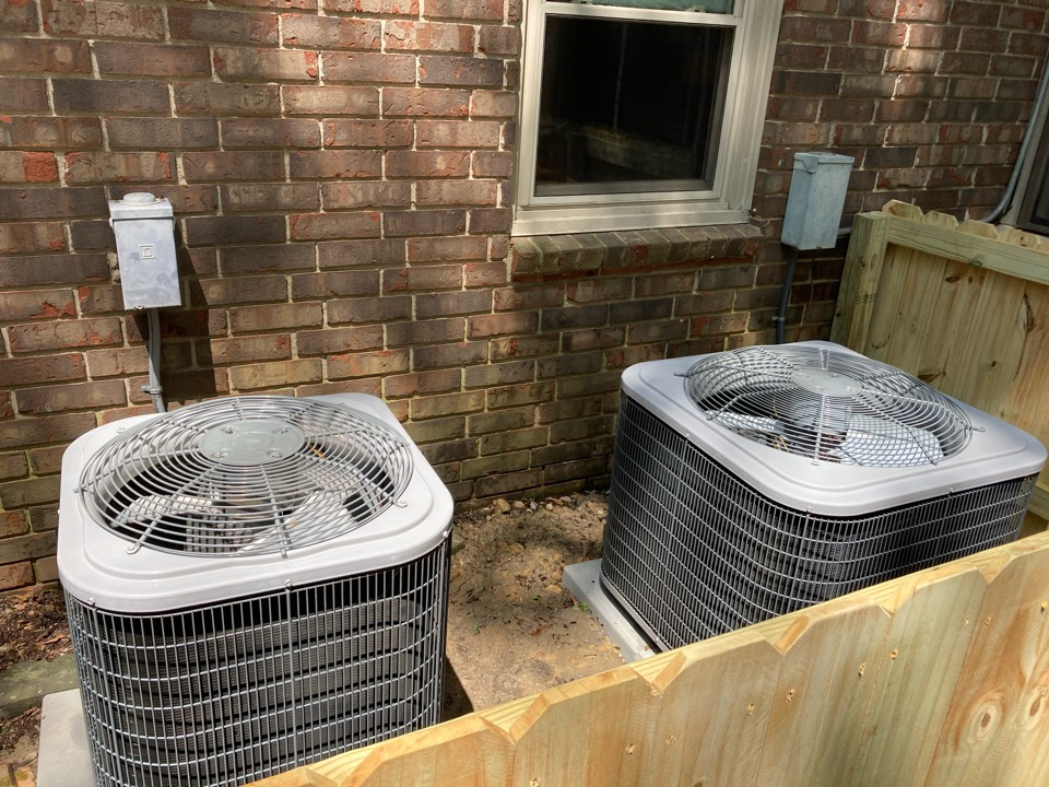 Servicing Both of these Carrier AC units! Columbus Georgia
