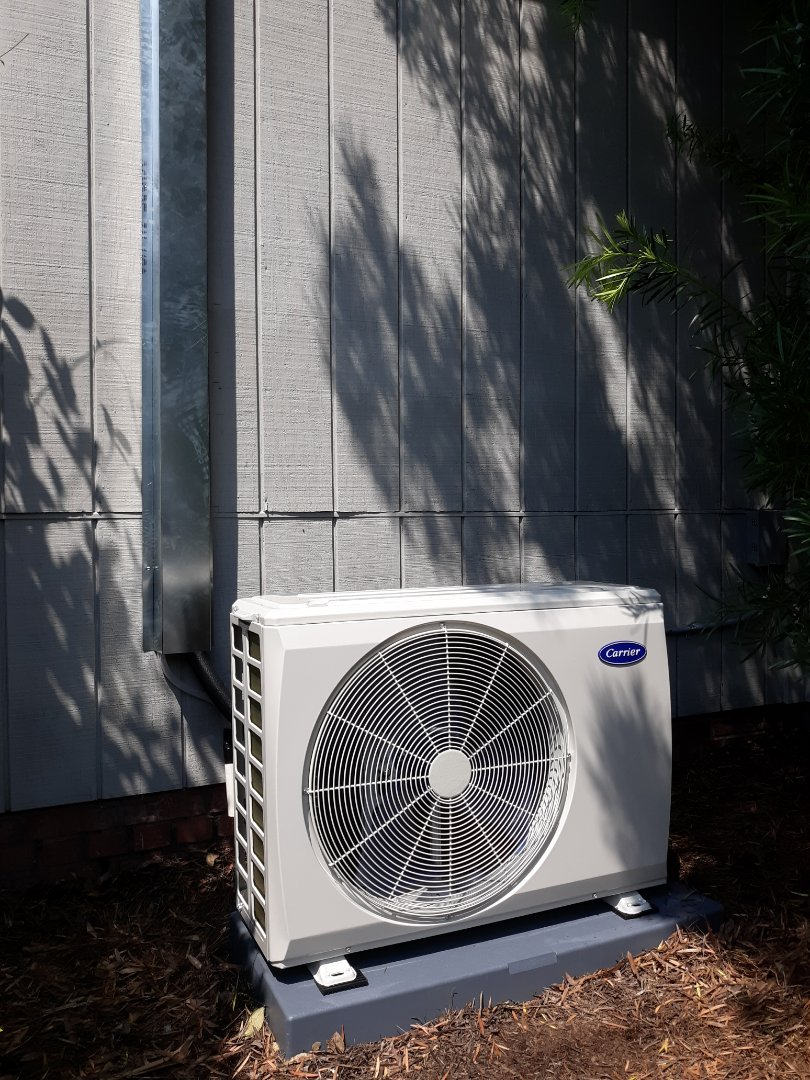 New energy efficient Carrier ductless heat pump installed at Just Hair in Columbus, GA. Swing by the salon and get a new style and stay cool!! Call Express Heating and Air Conditioning for all your comfort needs 706-576-6800.